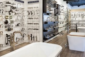 view of a lighting and plumbing  showroom