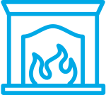 Icon of a fireplace